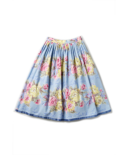 Beautiful Bouquet tuck skirt