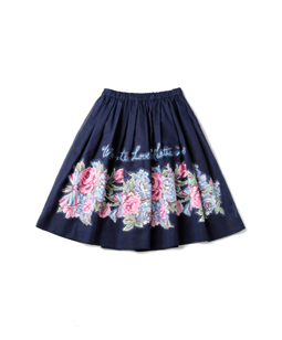 Organdy Beautiful Bouquet decoupage skirt