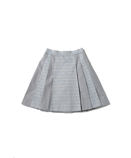 British check mini skirt