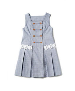 British check swinging dress