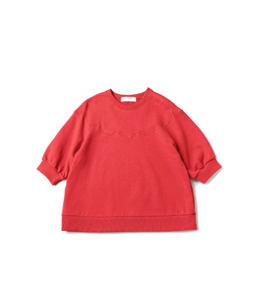Scallop collar pullover