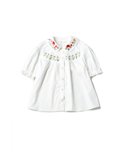 Garden embroidery blouse