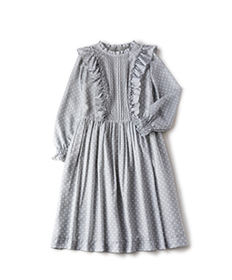 Dot print airy dress