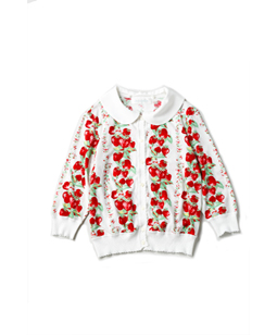 Strawberry Topiary cardigan