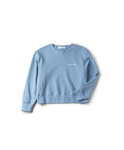 Back ribbon sweat shirt