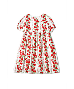 Strawberry Topiary smock dress