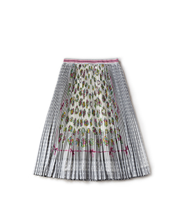 Chromos bouquet and dot print pleats skirt