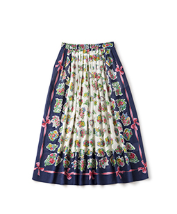 Chromos bouquet sheer skirt