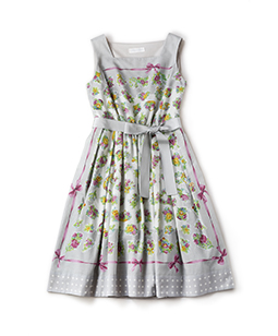 Chromos bouquet square dress