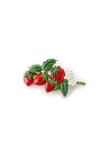 Strawberry Topiary hairpin