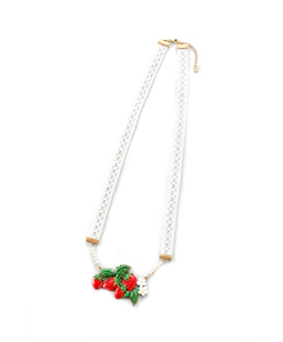 Strawberry Topiary necklace