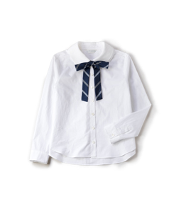 Quatre collar bow ribbon shirt