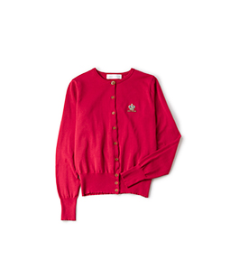 Crown and logo EMB cardigan