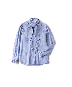 Picot frill dress shirt