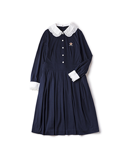 Double collar dormitory dress