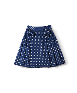 Dot jacquard tuck skirt