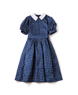 Dot jacquard cocoon dress