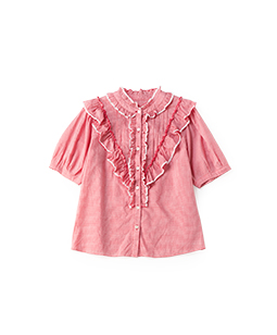 Pin check victorian blouse