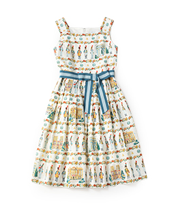 French toy soldier square dress