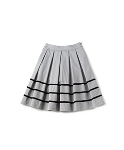 Compact twill back frill skirt