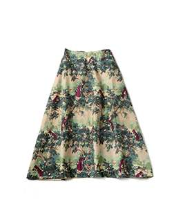 To the forest flare skirt