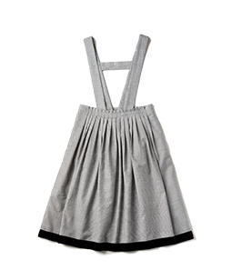Chambray cloth suspender skirt