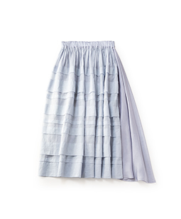 Material mix 2face skirt