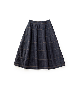 Light denim lantern skirt