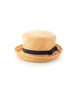 Raffia cloth HAT