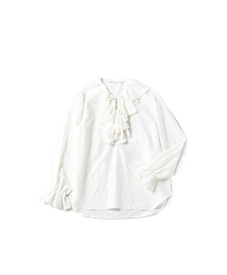Ruffle trimming dress shirt