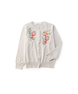 Strawberry embroidery cardigan