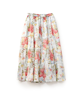 Strawberry season tiered skirt
