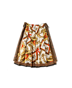 Lady's carriage glen check skirt