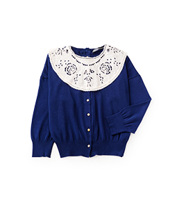 Puritan collar cardigan
