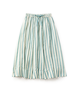 Pin tuck stripe fluffy skirt