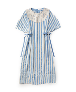 Pin tuck stripe puritan dress