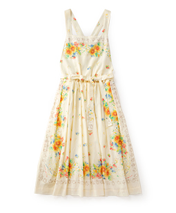 Sunflowers apron dress