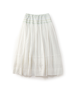 Cotton silk peasant skirt