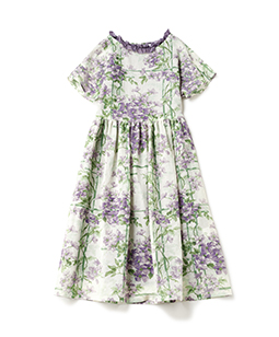 Crematis garden sheer dress