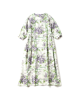 Crematis garden tablier dress
