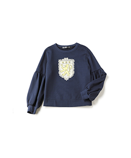 Lyon's Lion puff sleeves sweat shirt