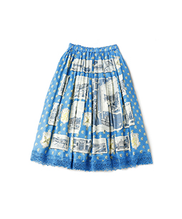 Croix-rousse tuck gather skirt