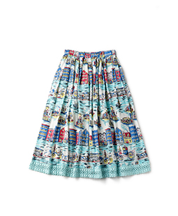 Old New York tuck gather skirt