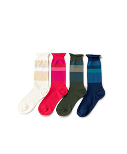 Color palette crew socks