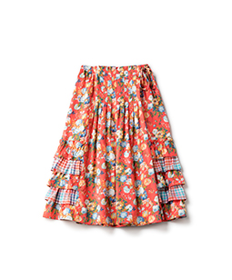 Magical bouquet wrapped skirt