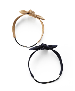 Suede ribbon hairband