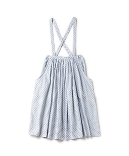 Dobby dot peasant skirt