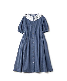 Dobby dot table cloth collar onepiece