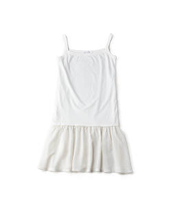 Soft T-cloth & voile camisole dress