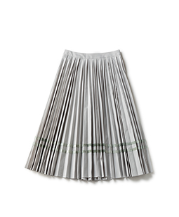 Light twill flare pleats skirt
